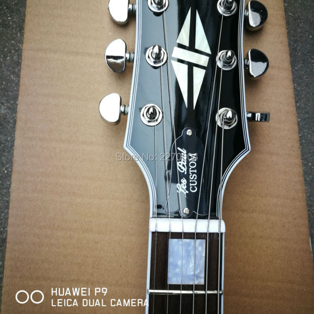 Customized dark blue, wavy, left-handed LP electric guitar, good sound, guitar soundtrack, free shipping in 1959 3