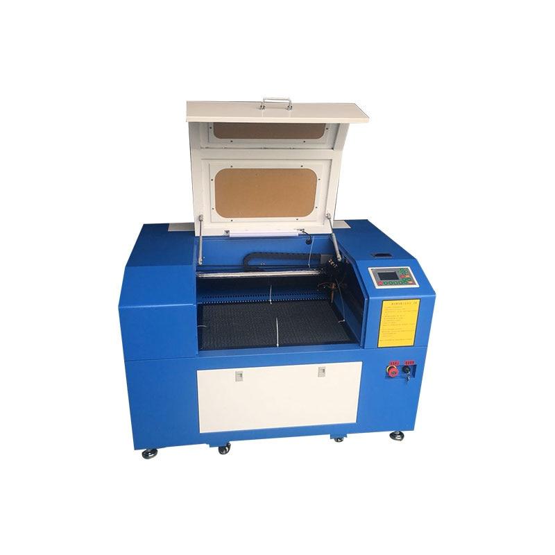 4060 sistema di controllo Ruida 60 w mini incisione laser macchina di taglio con su e giù tavolo