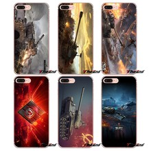Para o iPhone Da Apple X 4 4S 5 5S SE 5C 6 6 S 7 8 mais 6 Mais 7 mais 8 mais Fundas Coque jogo world of tanks WOT Cartaz TPU Macio caso(China)