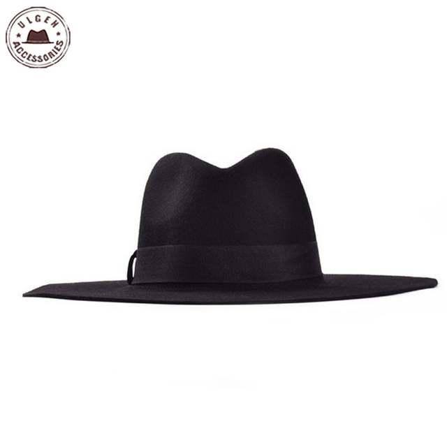 placeholder Primavera e no Outono plana abas largas chapéu fedora moda  grande chapéu chapéu de feltro de b7c3f2c9b4c