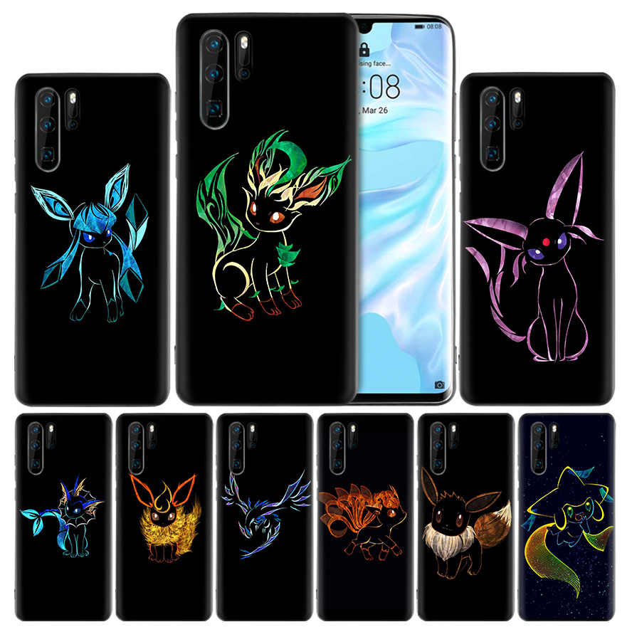 Cute eevee Silicone Case Cover for Huawei Mate 20 10 P30 P20 P10 P9 Lite Pro 2017 P Smart Z Plus 2019 V20 Enjoy 9S 9E Nova 4e