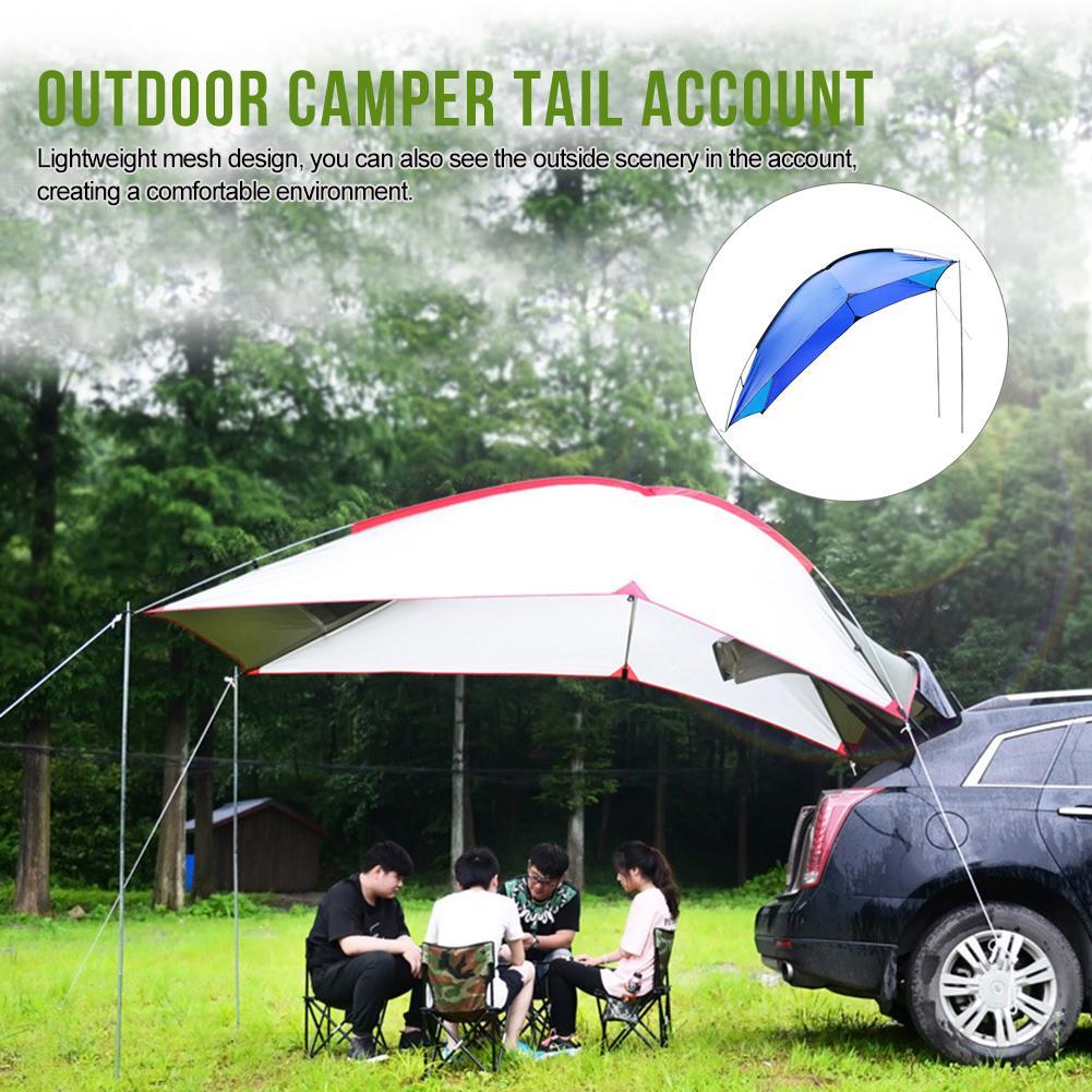 Outdoor Draagbare Camper Staart Rekening Tent Self Driving Tour Barbecue Multi Persoon Regen Vizier Tuinhuisje Strand Luifel Tent brand New - 4