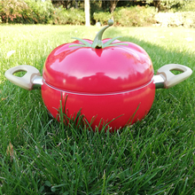 20cm Aluminum Soup Pot Double Bottom Fruit Tomato Pot Non-stick Creative Apple Pots Universal Stove Cookware Gift cooking pot цены