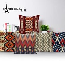 Jacquard Pillowcase Geometric Cushion Cover Spring Pillow Nordic Home Decoration LivingRoom Cushions Custom Linen Pillow 45 * 45 цена