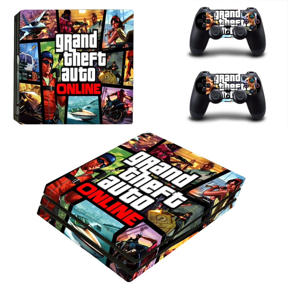 Grand theft auto Online PS4 Pro Skin Sticker Cover For Sony Playstation 4 Console&Controllers