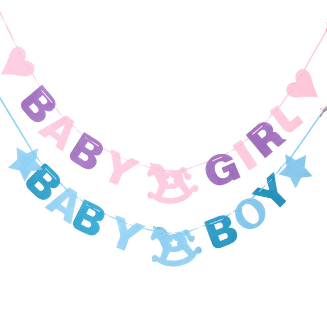 baby shower 2 88m baby boy girl felt banner party decoration bunting