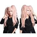Hair Cap+Handmade Danganronpa Junko Enoshima Party Hair Cos Cosplay Wig Pink Heat Resistant Synthetic Wigs Hallowmas