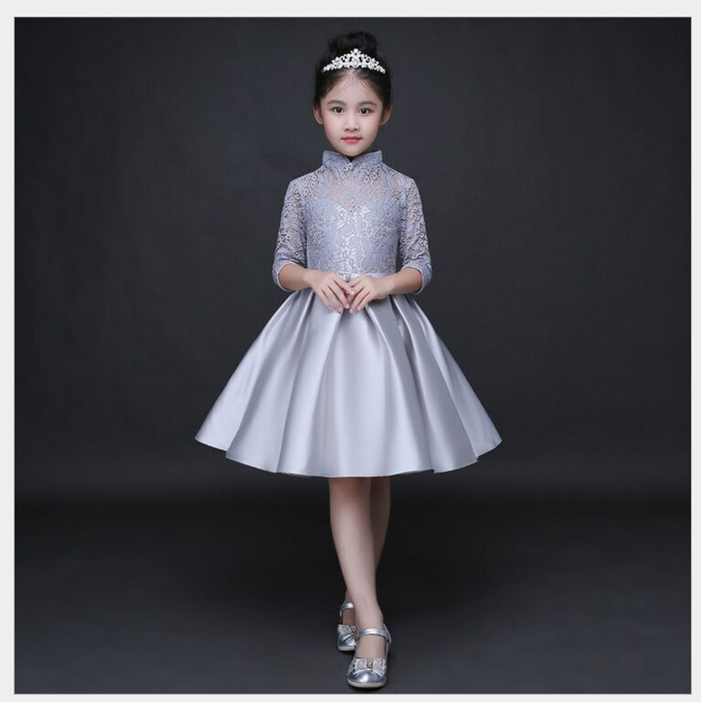 HTB15izjQFXXXXbDXpXXq6xXFXXXL - Baby Girl Kid Evening Party Dresses For Girl Wedding Princess Clothing 2017 New Solid Color Bow Moderator Dress Children Clothes