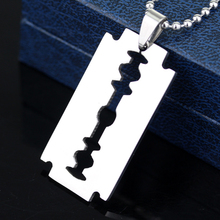 Car Pendant Hanging Fashion Stainless Steel Small Razor Blade Necklace Ornaments Decoration Rear View Mirror Accessories