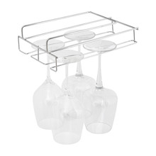 Kitchen Stainless Steel Storage Rack Dish Holder Goblet Shelf Cup Hanger Cupboard Hanging Hook Bathroom Organizer