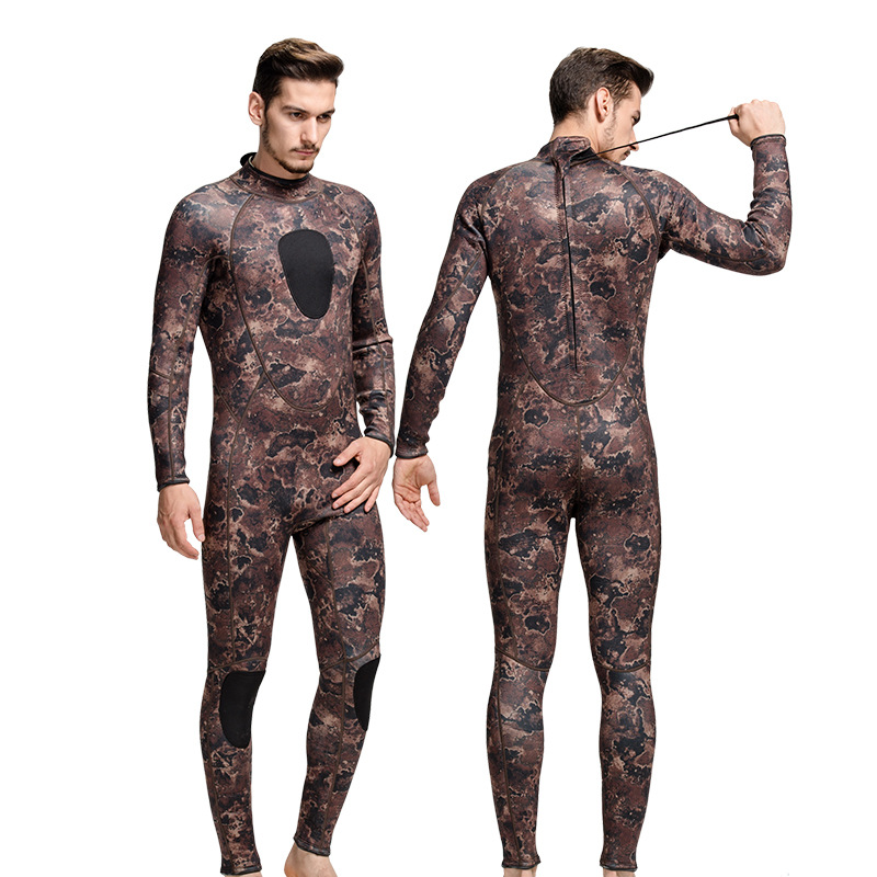 Sbart Neoprene 3mm Long Sleeve Men Camouflage Wetsuit Scuba Diving Wet Suit Swimming Surfing Bodysuit Swimwear Diving Equipment sbart 3mm neoprene wetsuit men top long sleeve neoprene surf rash guard jacket for diving surfing swimming clothe keep warm n734