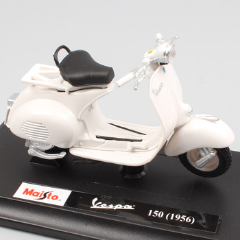 Maisto-minipatinete eléctrico clásico, de 150 cc y 1956 cc, juguete a presión fundido a escala 1:18, regalo coleccionable para chico