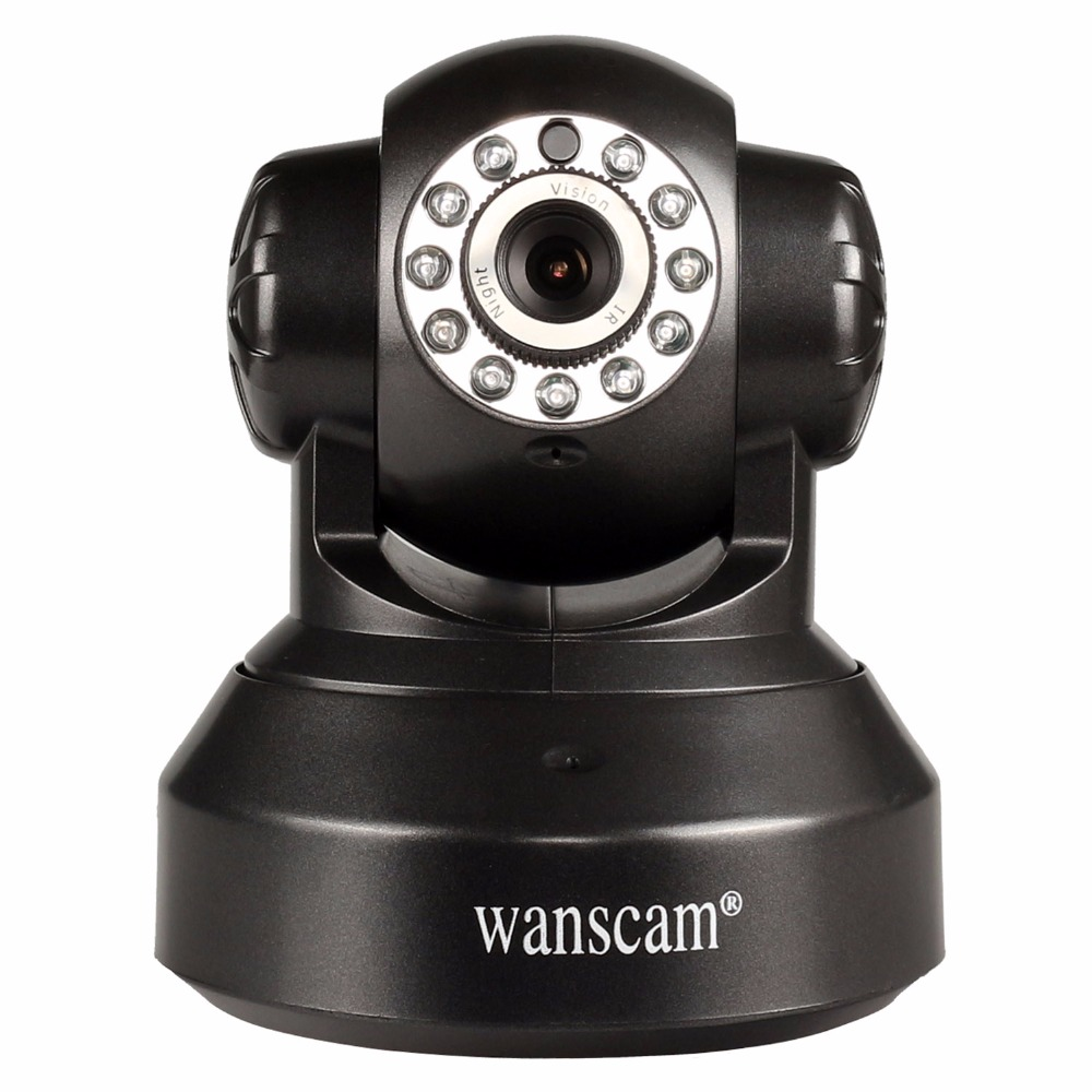 ФОТО wanscam Indoor PTZ IP 720P Surveillance Camera Day Night Wireless Wifi Wireless Dual Audio Security Network Camera HW0024 Black