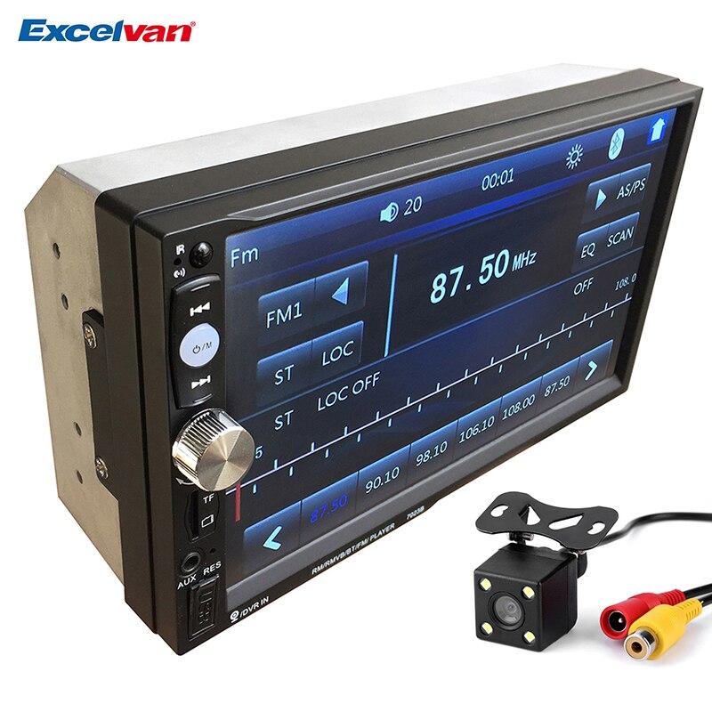 imágenes para Universal 7 ''2 Din Bluetooth V3.0 Car Audio Reproductor MP5 Pantalla táctil En El Tablero Multimedia Stereo Radio + Cámara de Vista Trasera FM/USB/SD/AUX