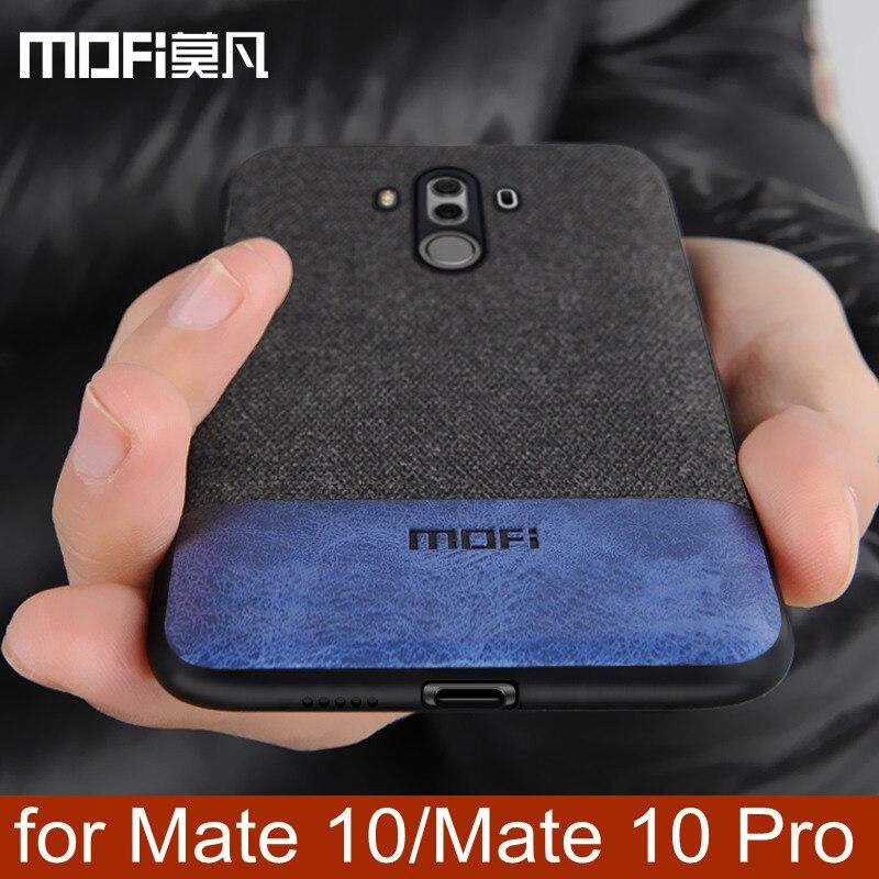 Huawei Mate 10 Pro fall abdeckung mate10 fall zurück abdeckung silikon weiche kante stoßfest business coque MOFi Mate 10 Pro männer fall 6,0