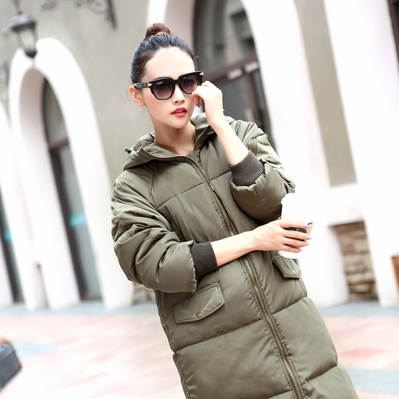 2016 All Winter New Europe Long Warm Down Cotton Coat Designer Womens Coats Sale Hooded Women Jacket