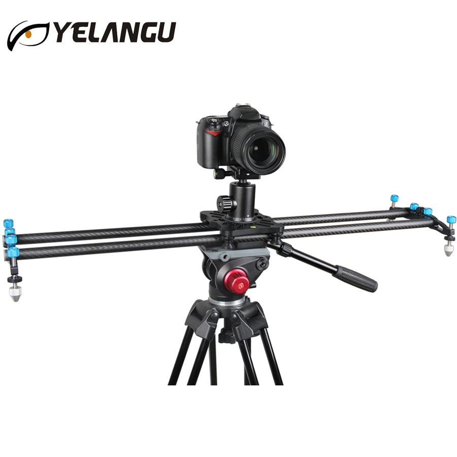 New Pro 80CM Carbon Fiber Portable Video Camera Track Slider Dolly for DSLR Canon Nikon Camcorders ashanks 80cm 6 bearings carbon fiber slider dslr camera dv track slide