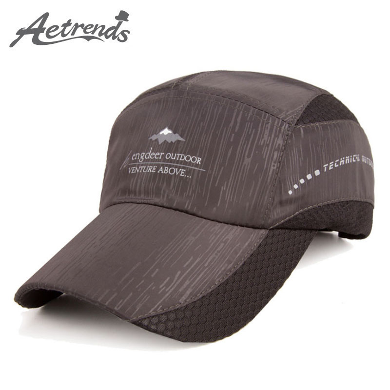 [AETRENDS] 2017 Summer Mesh Hats Breathable Quick-Drying Baseball Cap Men Hat Snapback casquette Z-5146 cntang brand summer lace hat cotton baseball cap for women breathable mesh girls snapback hip hop fashion female caps adjustable