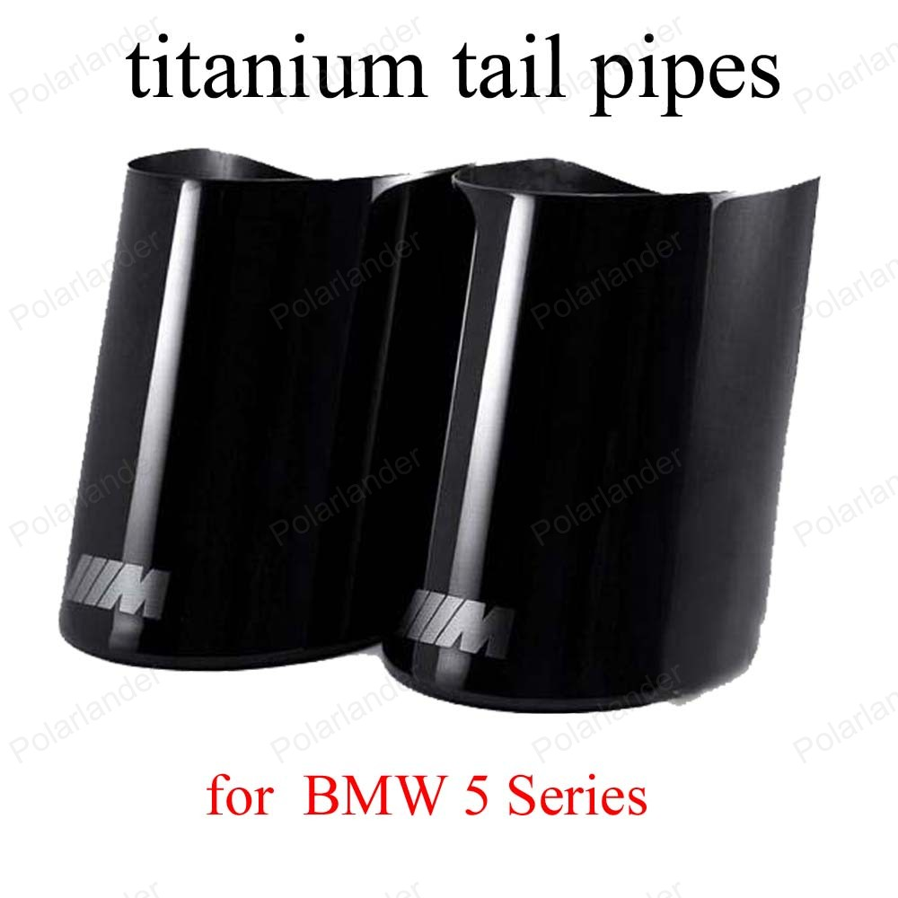 Double Outlet font b Car b font Tail Throat Liner Pipe for B MW 5 Series