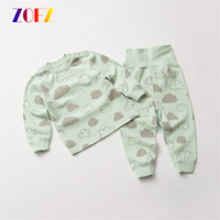 ZOFZ Newborn Baby Boy Girl Clothes 100 Cotton Round Collar Full Sleeve Cloud Tops Hoodies Long