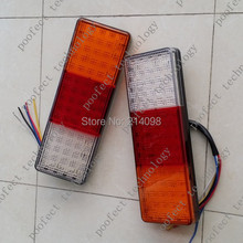 one pair E-mark 12V 24V LED tail light boat trailer truck ute cavaran rear combination lamp