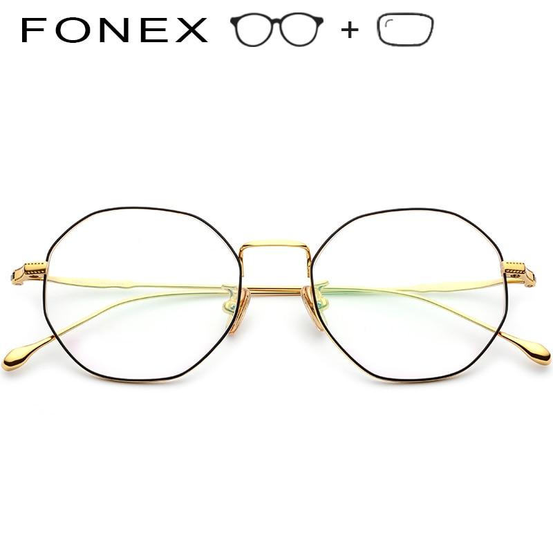 Brillen Rahmen Reine Männer Optische 2019 Ultraleicht Titan B Polygon Frauen Luxus Neue Myopie qttCwF