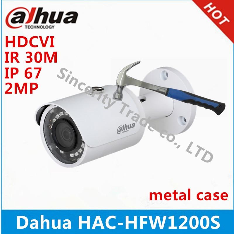 Dahua 2Megapixel metal case HAC HFW1200S 1080P Water proof IR30M Bullet HDCVI camera support XVR and