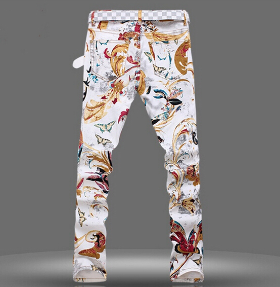 Fashion Slim Casual Pants New Printing Clothing Feet Galliano Jeans Us80 From 2015 On Men 0men Men's John Painted In orCWdxeB