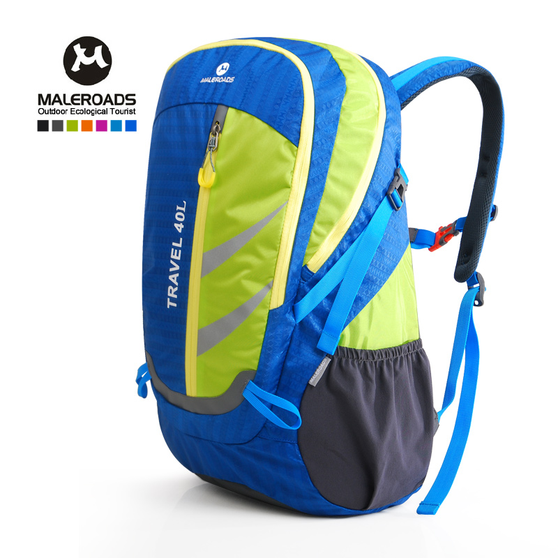 Maleroads Daypack Travel Backpack Waterproof Nylon Climb Hike Camp Backpack for Women&Men 40L maleroads women men backpack daily backpack outdoor travel backpack climb knapsack camp hike rucksack daypack 40l laptop mochila