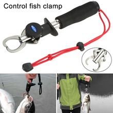 Fish Clamp Control Stainless Steel Fishing Lip Grip Holder Grabber Pliers with Weight Scale Tool YA88