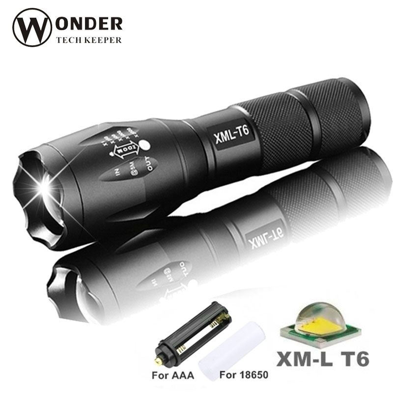 LED Flashlight High Quality CREE XML-T6 3800LM lanterna Strong Outdoor Portable lighting Powerful Brightness Zoomable Torching L high quality zoomable cree xml t6 model 1000 lm led outdoor long shots flashlight 18650 torch high light