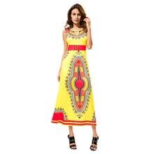 3d7b64679 2019 nuevo estilo verano vestidos MUQGEW ropa para mujer de verano Sexy  Casual sin mangas Africana Tribal Floral impresión vesti.