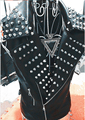 2016 NEW Men's fashion slim rack drum clothes male dj costume rivet leather vest bar singer Stage costumes cltohing