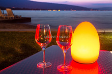 2015 fashion Colorful changed rechargeable LED Egg night light to fit tables of hotels and restaurants lampe de rable sans fil 2015 fashion d15 h21 colorful changed rechargeable led egg lamp to fit tables of hotels and restaurants lampe de rable sans fil
