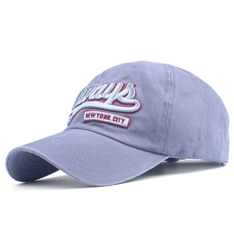 Topdudes.com - Casual Retro Embroidery Letter Fitted Snapback Cotton Baseball Cap