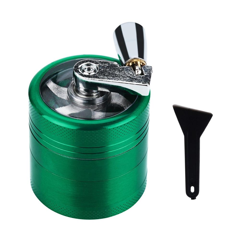 metal Hand Crank Crusher Herb Herbal Tobacco Cutter Grinder Hand Muller Shredder Weed Grinders Smoking Case 2017 Fashion