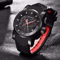 Top Brand Hot Men Quartz Watch PAGANI DESIGN Chinese Dragon Calendar Silicone Strap Multifunction Chronograph Waterproof Watch