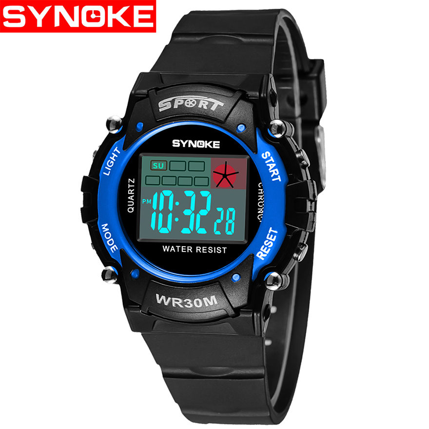 Watches Synoke Fashion Children Watches Kid Boy Digital Led Quartz Alarm Date Sports Wrist Watch Relogio Masculino For Boys Girls Gift Discounts Sale