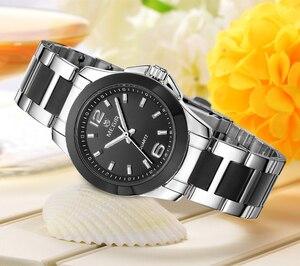Image 4 - MEGIR Relojes Mujer Pareja de Lujo Vestido Reloj Relogio Feminino Montre Femme Reloj para Las Mujeres Señoras Reloj de Cuarzo para Los Amantes