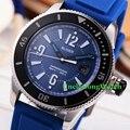 Bliger 43mm Estilo Sub Mostrador Preto Mens Relógio Automático Marca Luminosa Relógio Moldura Preta Branco Azul Borracha StrapTimepiece BA4301SWL