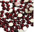 1440 unidades/pacote ss6 2.0mm Cristal Escuro Siam Red Pedrinhas Para Nail Art, Plano Voltar Não Hotfix Cola em Rhinestones Da Arte do prego