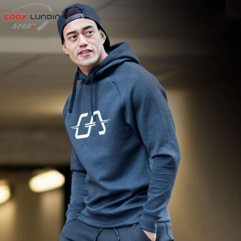 2018 New Men Cotton hoodies Sweatshirt spring style gyms Fitness Hooded pullover Man Casual fashion Sportswear Brand clothing