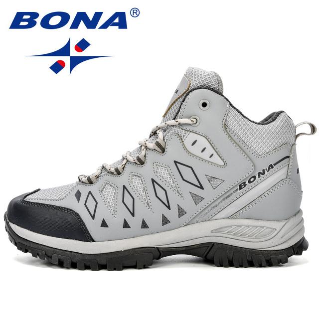 BONA New Design Men Shoes Mountain Big Size Brand Shoes Men Anti-Slippery Hiking Shoes  Comfortable Men Outdoor Jogging Shoes