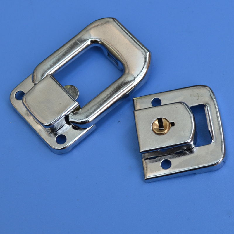 50 pieces metal hasp air box storage buckle art tool case fastener Luggage hardware part bag lock Hanging buckle Iron buckl