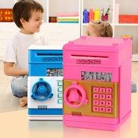 New Design Children Safety Electronic Piggy Bank Creative Code Digital Coins Cash Deposit Money Box Secret