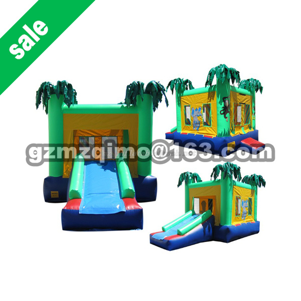 Family Use Inflatable Bouncy Calstle Combo Water Slide Pool,Inflatable Bouncer for Kids,Jumping Castle with Air Blower children shark blue inflatable water slide with blower for pool
