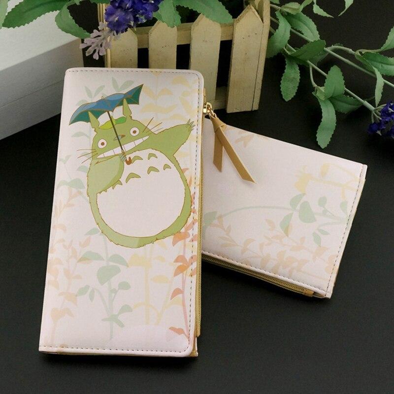 My Neighbor Totoro PU Wallet Short Long Design Wallets Zipper Coin Purse Card Holder Carteras for Teenager Free Shipping my neighbor totoro pu purse tonari no totoro penny wallet with button type a