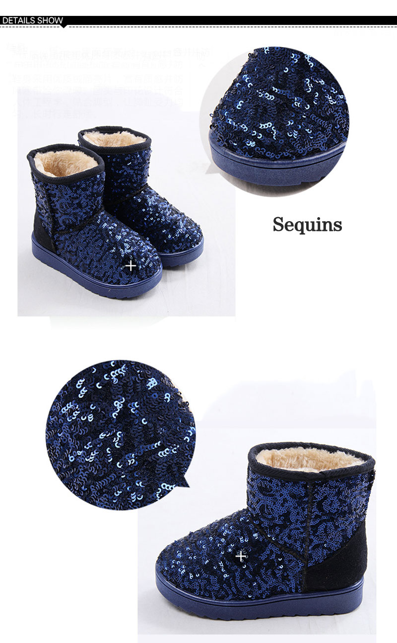 Mamimore Brand Sequins Boots 2017 New Winter Boots For Teenage Girls Plush Snow  Boots Ankle Rubber Outsole Flat With Girls ShoesUSD 14.50-19.50 piece 04a0c7139c35