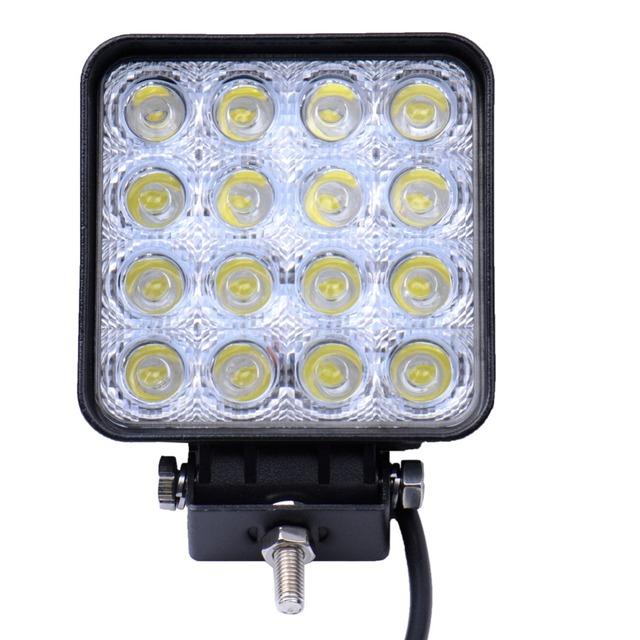 10 Peças de 48 W 16x3 W LED Car Light Bar como Trabalho Quadrado/Unidade Da Lâmpada Spot Light para Boating Caça Pesca