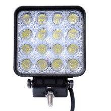 10 Sztuk 48 W 16×3 W Car LED Light Bar jak Rynek Pracy/Napęd Lampa Spot Light dla Żeglarstwo Polowanie Rybacki